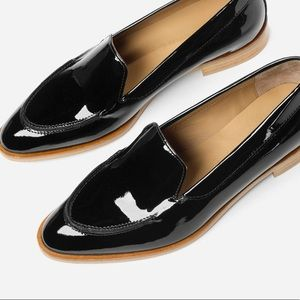 Everlane patent modern loafers sz 9 (fits 8)